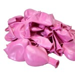Балон металик розов