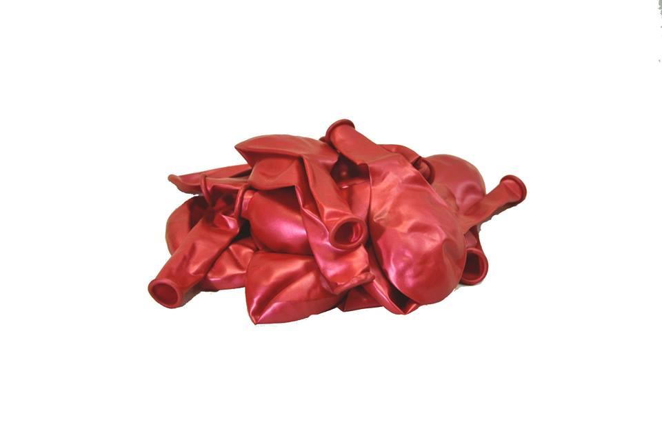 Балон металик червен